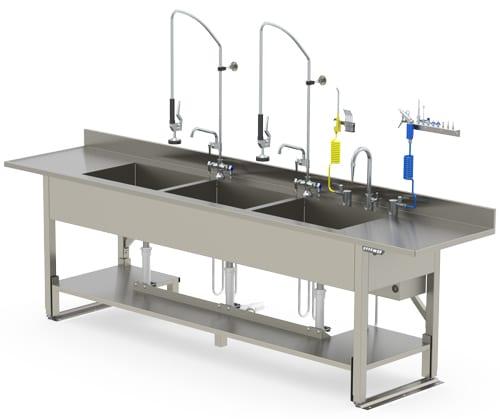 Triple Processing Sink